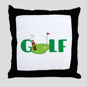 GOLF CLUBS Throw Pillow